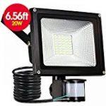 Tempo di Saldi® - Projecteur à LED 10W - Lumière blanche froide - Avec détecteur de mouvement crépusculaire - IP65 de la marque Tempo di Saldi® image 6 produit