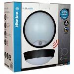Tibelec 342220 Hublot LED Rond avec Détecteur de Mouvement, Plastique, 10 W, Noir, 80 x Ø 215mm de la marque TIBELEC image 4 produit