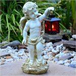 Tombe Ange Statue avec lanterne 38cm imperméable jardin bijoux de la marque INtrenDU image 1 produit