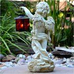 Tombe Ange Statue avec lanterne 38cm imperméable jardin bijoux de la marque INtrenDU image 2 produit
