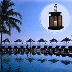 Tp-top Lanterne Lampe LED Solaire Lumière Bougie sans Flamme Suspendue sans fumée pour Extérieur Jardin Cour Pelouse Patio Tente Camping de la marque TP-top image 5 produit