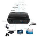 Vidéoprojecteur, LESHP HD 1080P HD 3200 Lumens Led Mini LCD Projecteur de Cinema Théâtre Familiale Privé, Projecteur Portable 1080P / USB / VGA / SD / HDMI pour Xbox / iphone / Smartphone / PC (Noir) de la marque LESHP image 1 produit