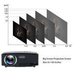 Vidéoprojecteur, TOQIBO HD 1080P 1800 Lumens Led Mini LCD Projecteur de Cinéma Privé, Projecteur Portable avec Support HDMI / VGA / AV / 2 Port USB PC Ordinateur Xbox TV, idéal pour le Jeu Vidéo, pour de la marque TOQIBO image 1 produit