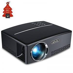 Vidéoprojecteur, TOQIBO HD 1080P 1800 Lumens Led Mini LCD Projecteur de Cinéma Privé, Projecteur Portable avec Support HDMI / VGA / AV / 2 Port USB PC Ordinateur Xbox TV, idéal pour le Jeu Vidéo, pour de la marque TOQIBO image 0 produit