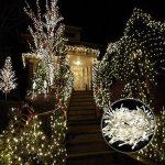 Vikdio 200 LED String Lights | 66Ft avec 8 modes de lumières étoilées | DC 31V 6W transformateur basse tension exploité pour la fête de mariage de Noël, jardin extérieur d'intérieur (blanc, classe énergétique A++) de la marque Vikdio image 6 produit