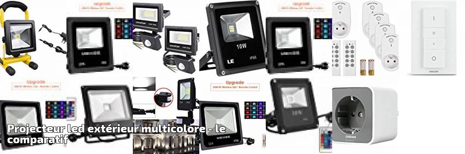 Pour 2019 Le Multicolore Comparatif Projecteur Led Extérieur JcTlFK1